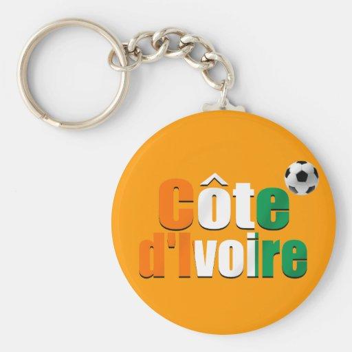 Côte d'Ivoire logo football fans soccer ball gifts Key Chains