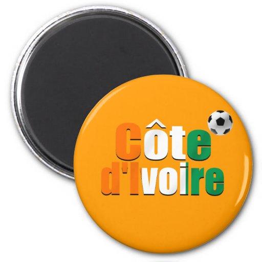Côte d'Ivoire logo football fans soccer ball gifts Refrigerator Magnet