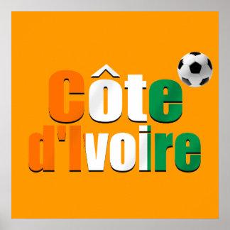 Côte d'Ivoire logo football fans soccer ball gifts Poster