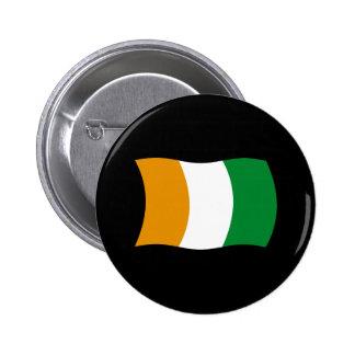 Cote d'lvoire (Ivory Coast) Flag Button