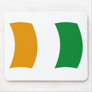 Cote d'lvoire (Ivory Coast) Flag Mousepad