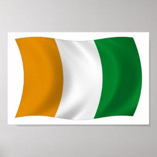 Cote d'lvoire (Ivory Coast) Flag Poster Print