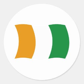 Cote d'lvoire (Ivory Coast) Flag Sticker