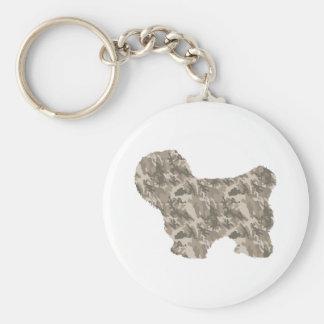 Coton de Tulear Basic Round Button Key Ring