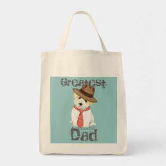 Coton de Tulear Dad Tote Bag