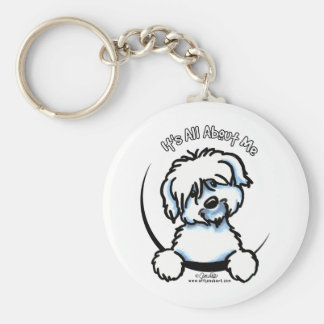 Coton de Tulear Its All About Me Basic Round Button Key Ring