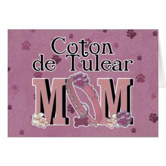 Coton de Tulear MOM Greeting Card