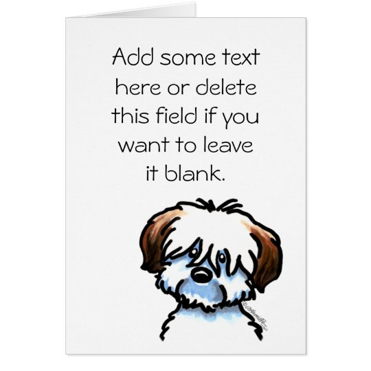 Coton de Tulear Speaking Personalised Greeting Card