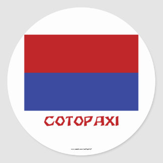 Cotopaxi flag with Name Round Sticker