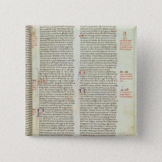 Cott Nero D II f.114 Adrian IV 15 Cm Square Badge