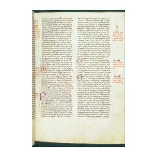 Cott Nero D II f.114 Adrian IV Canvas Print
