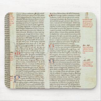 Cott Nero D II f.114 Adrian IV Mouse Mat