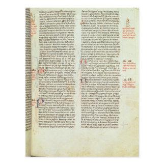 Cott Nero D II f.114 Adrian IV Postcard