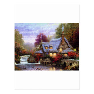 Cottage By The Falls Postcard