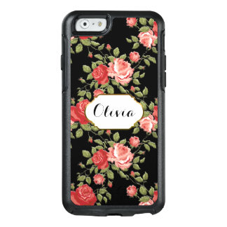 Cottage Chic Custom Pink roses OtterBox iPhone 6/6s Case