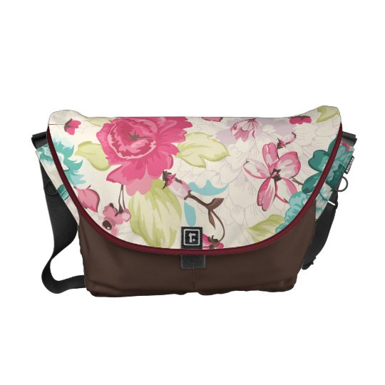 Cottage Chic Floral Messenger Bags