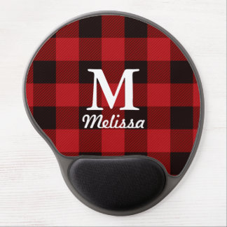 cottage Christmas Red buffalo lumberjack plaid Gel Mouse Mat
