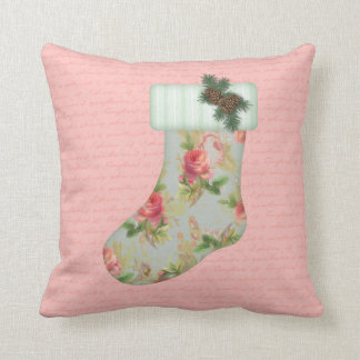 Cottage Christmas Stocking Pillow