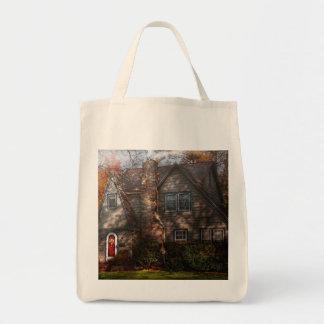 Cottage - Cranford, NJ - Autumn Cottage Tote Bags
