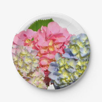 Cottage Hydrangea Paper Plate
