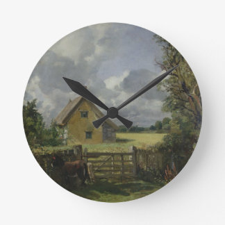 Cottage in a Cornfield, 1833 Round Clock