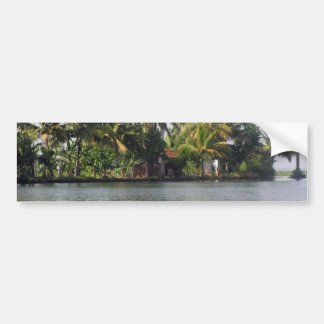 Cottage in the midst of greenery bumper sticker
