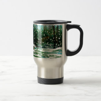 Cottage in the Snow Travel Mug