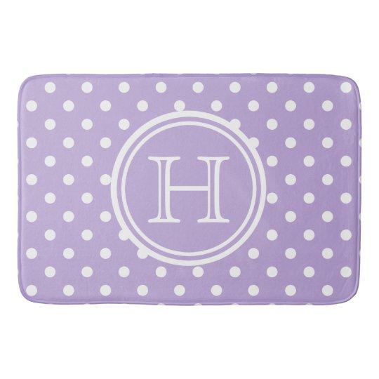 Cottage Lavender and White Polka Dot Monogram Bath