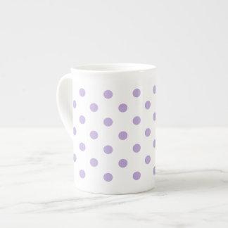 Cottage Lavender Polka Dot Tea Cup
