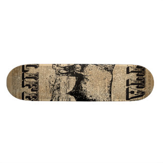 Cottage Life Vintage Countryside Dictionary Art 21.3 Cm Mini Skateboard Deck
