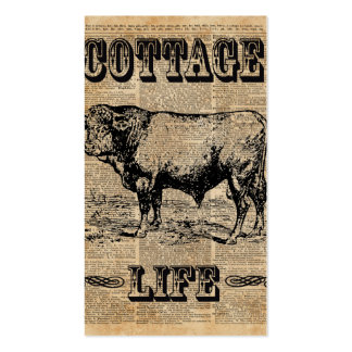 Cottage Life Vintage Countryside Dictionary Art Pack Of Standard Business Cards