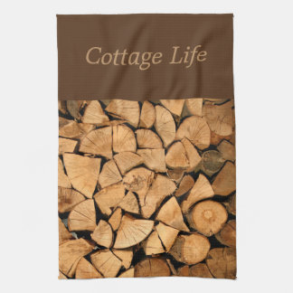 "Cottage/Logs Towel 16"" x 24"""