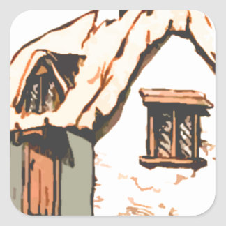 cottage square stickers