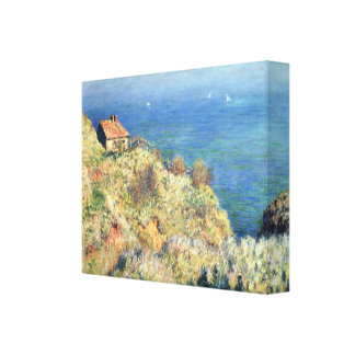 Cottage View of the Sea Monet Stretched Canvas Print