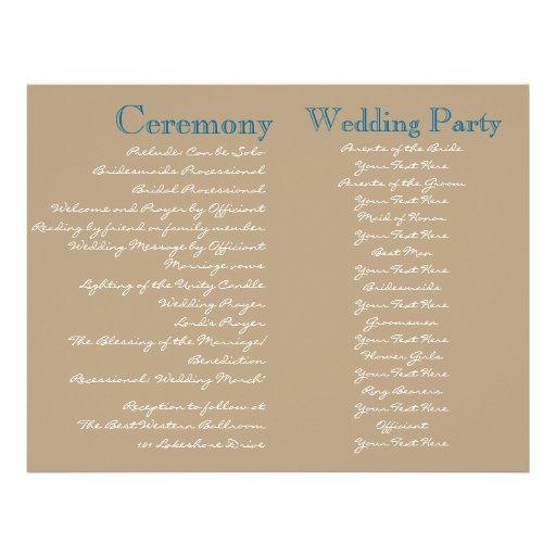 Cottage Vintage Wedding Ceremony Program Flyer Design