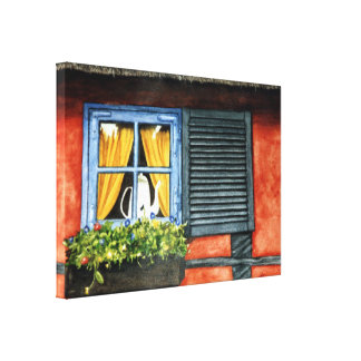 Cottage Window Gallery Wrap Canvas