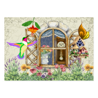 Cottage Window Gift Card - SRF Business Card Templates