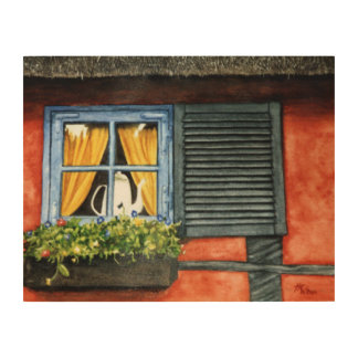 Cottage Window Wood Wall Art
