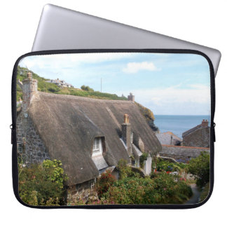 Cottages at Cadgwith Cornwall Photograph Laptop Sleeve