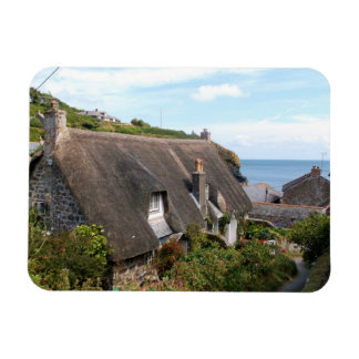 Cottages at Cadgwith Cornwall Photograph Magnet