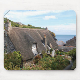 Cottages at Cadgwith Cornwall Photograph Mouse Mat