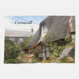 Cottages at Cadgwith Cornwall Photograph Towel