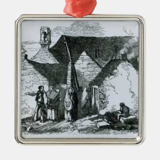 Cottages of the Peasantry in the West of Ireland Christmas Ornament
