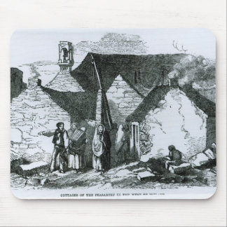 Cottages of the Peasantry in the West of Ireland Mouse Mat