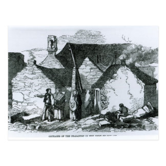 Cottages of the Peasantry in the West of Ireland Postcard
