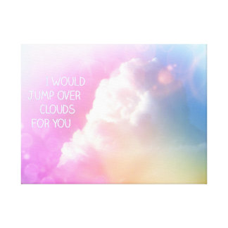 Cotton Baby Over Clouds Nursery Decor Canvas Print