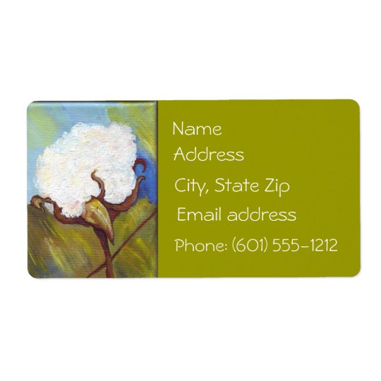 Cotton Boll Address Label