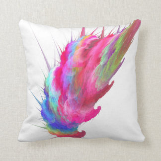Cotton Candy Fractal Pillow Cushion
