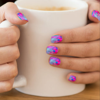 Cotton Candy Ghostly Flames   girly Minx Nail Art
