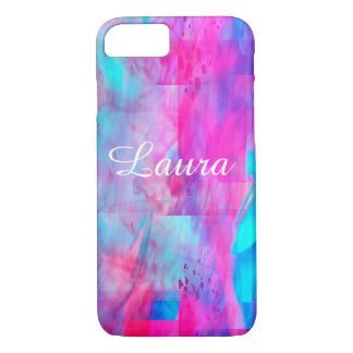 Cotton Candy Ghostly Flames  Text iPhone 7 Case
